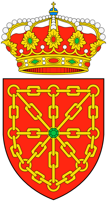del reino de navarra aparecen hoy en el escudo nacional de españa por