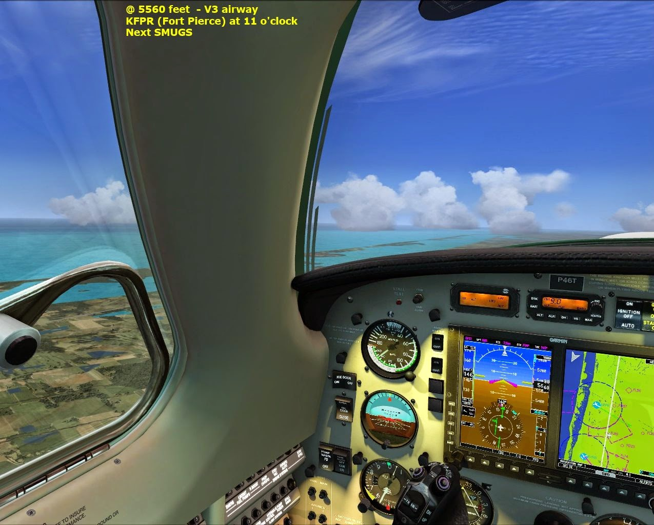 Lord of the wings flight simulation piper malibu delivery tour fort pierce airport on our left pooptronica