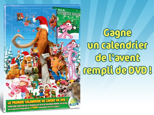 30 calendriers de l'Avent rempli de DVD !