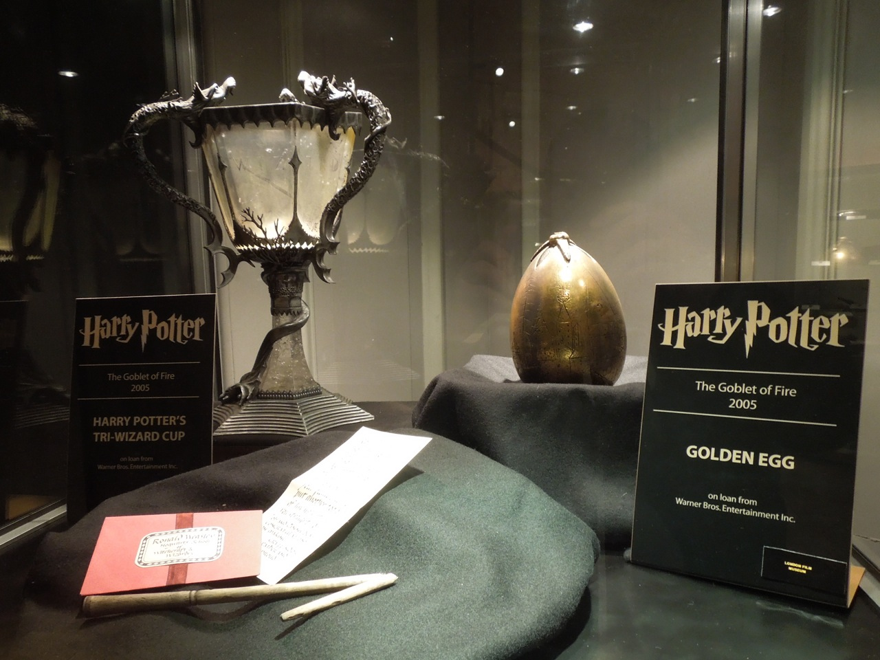 Harry Potter and the Goblet of Fire movie props on display ...