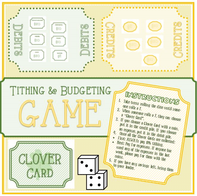 Tithing and Budgeting Game