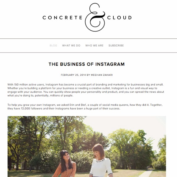 http://www.fordreamersanddoers.com/blog/thebusinessofinstagram