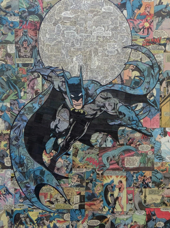 01-Batman-Mike-Alcantara-Comic-Collage-Art-www-designstack-co