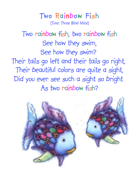 Super duper e7 book week for Fish songs for preschoolers