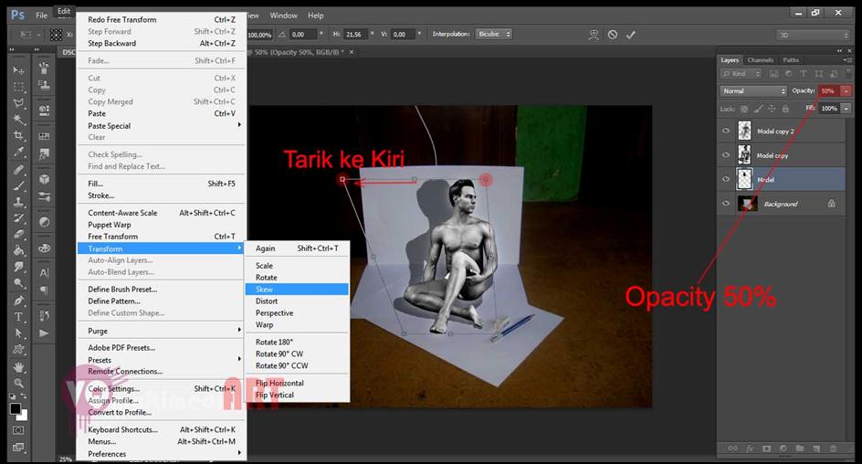 Cara Membuat Efek 3d 12 Cara Membuat Efek 3D Di Photoshop