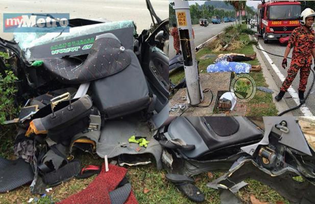 4 Gambar Kereta Hancur Berkecai Tiga Maut Kemalangan Ngeri Di Putrajaya