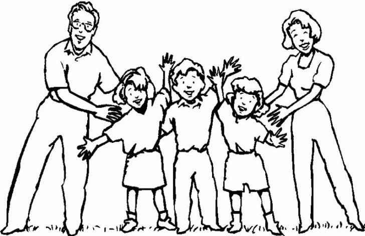 Mi colecci n de dibujos dibujos de la familia for Mural una familia chicana