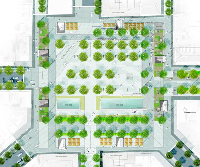 Ανάπλαση του κέντρου της Αθήνας-Άξονας Πανεπιστημίου 1st_prize_Omonoia+Square