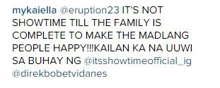 Eruption no longer a host in It's Showtime?