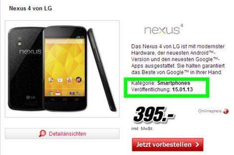 Nexus, Nexus 4, Smartphone, Android, Android Smartphone, LG, Google