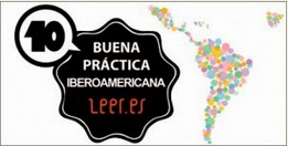 "Sello BBPP Iberoamericanas leer.es por ""Palabras Azules"""