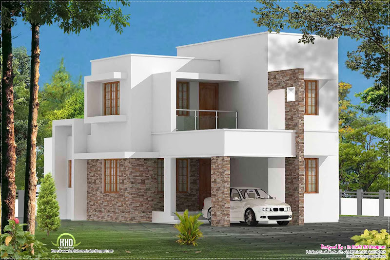 Simple 3 bed room contemporary villa title=