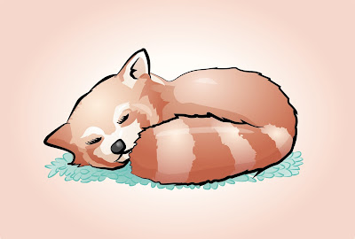 Panda rosso vettoriale