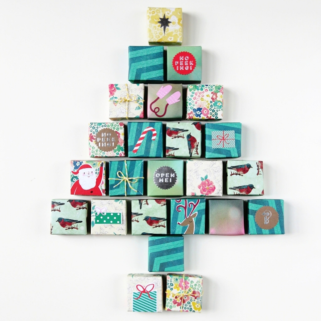 diy origami box advent calendar gathering beauty