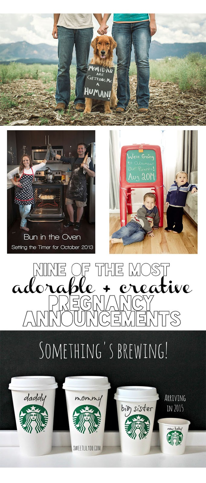 Check out these 9 amazing ways to announce you're with child, from magazine covers to personalized eggs, there are so many creative ways to share your exciting news with the world...