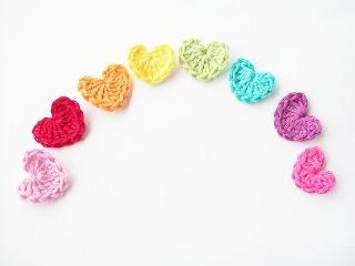 Easy Cute Crochet Flower Pattern : Flower Girl Cottage : Simple and Cute Crochet Heart ...