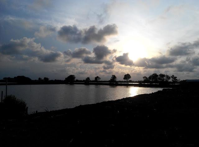 Menikmati Senja di Desa Karangsong Indramayu
