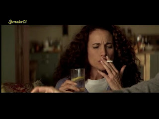 andie macdowell smoking