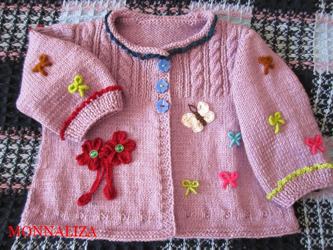 Вязание детских изделий спицами для девочек 40
