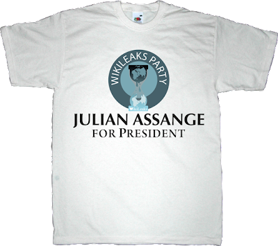 Julian Assange wikileaks freedom australia useless Politics t-shirt ephemeral-t-shirts