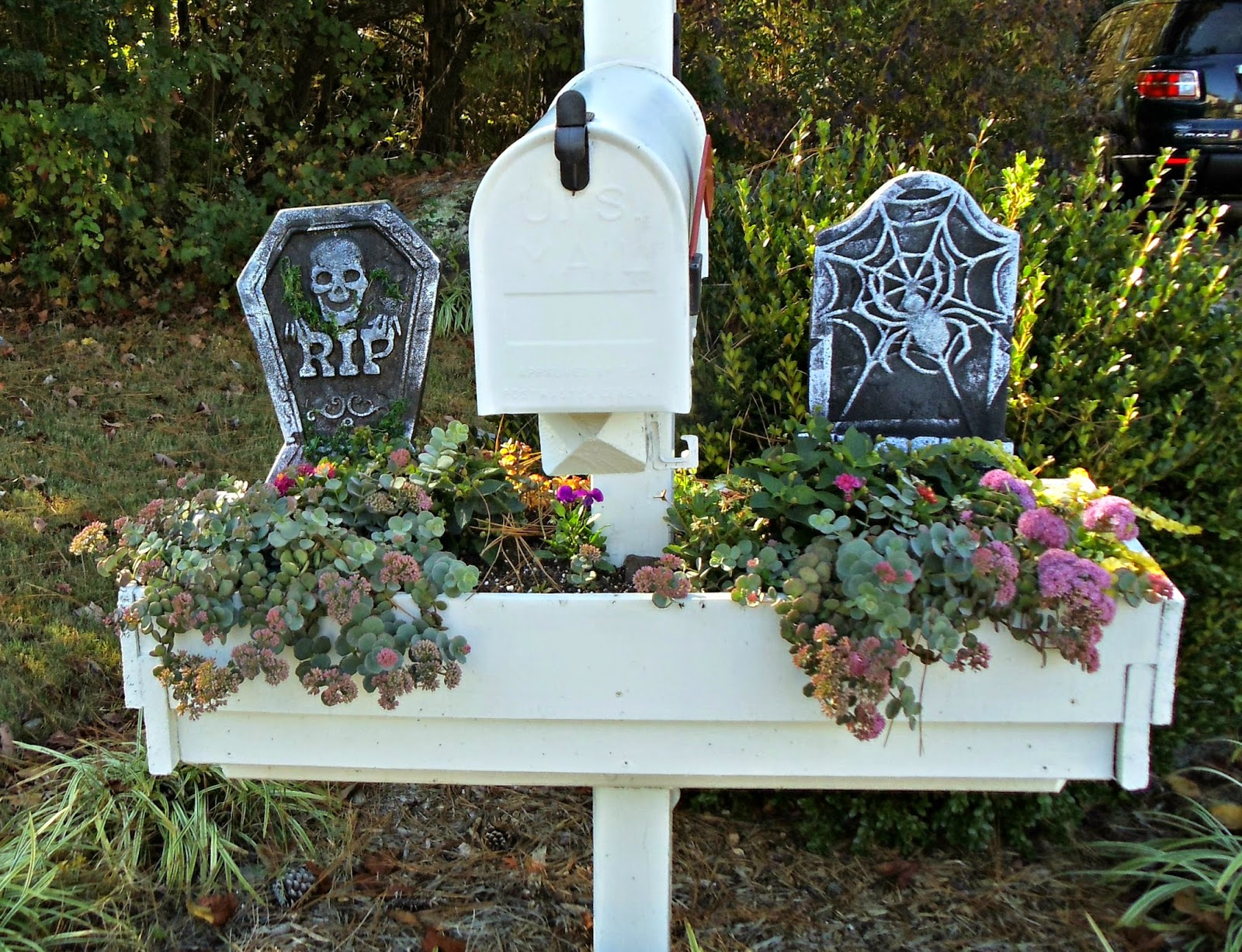 Upstairs Downstairs Two Dollar Halloween Mailbox Decoration ~ 222911_Halloween Decorating Ideas For Mailboxes
