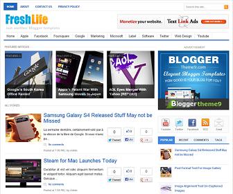 FreshLife Blogger Template