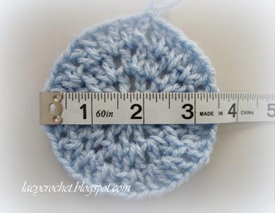 Crochet Stitch Gauge : Lacy Crochet: V-Stitch Newborn Beanie, Free Crochet Pattern