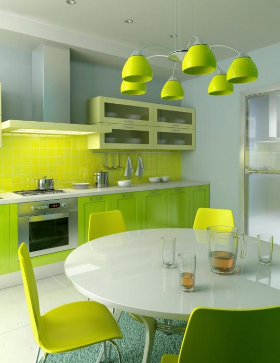 Green Kitchen Idea - Prime Home Design: Green Kitchen Idea