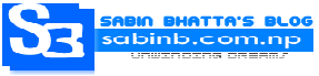 Sabin Bhatta's Blog