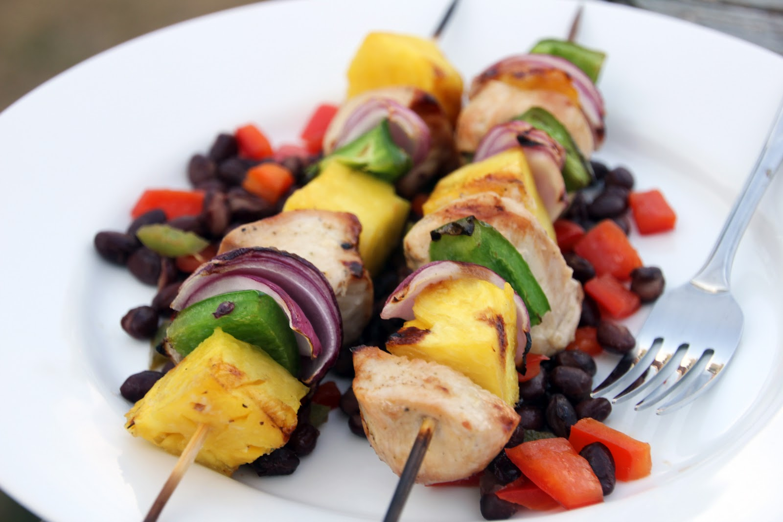 Earning Your Apron: Grilled Island Chicken Kabobs and Spicy Black ...