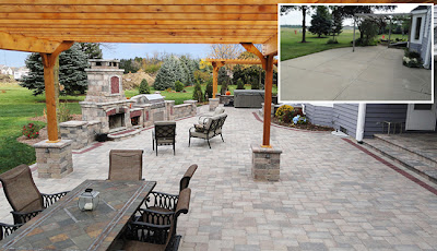 An Integrity-designed patio ready for Father's Day celebration