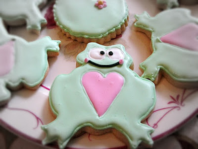 Frog and Lilypad Decorated Sugar Cookies