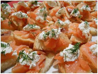 Toast saumon fumé et fromage fouetté Mme Loïc