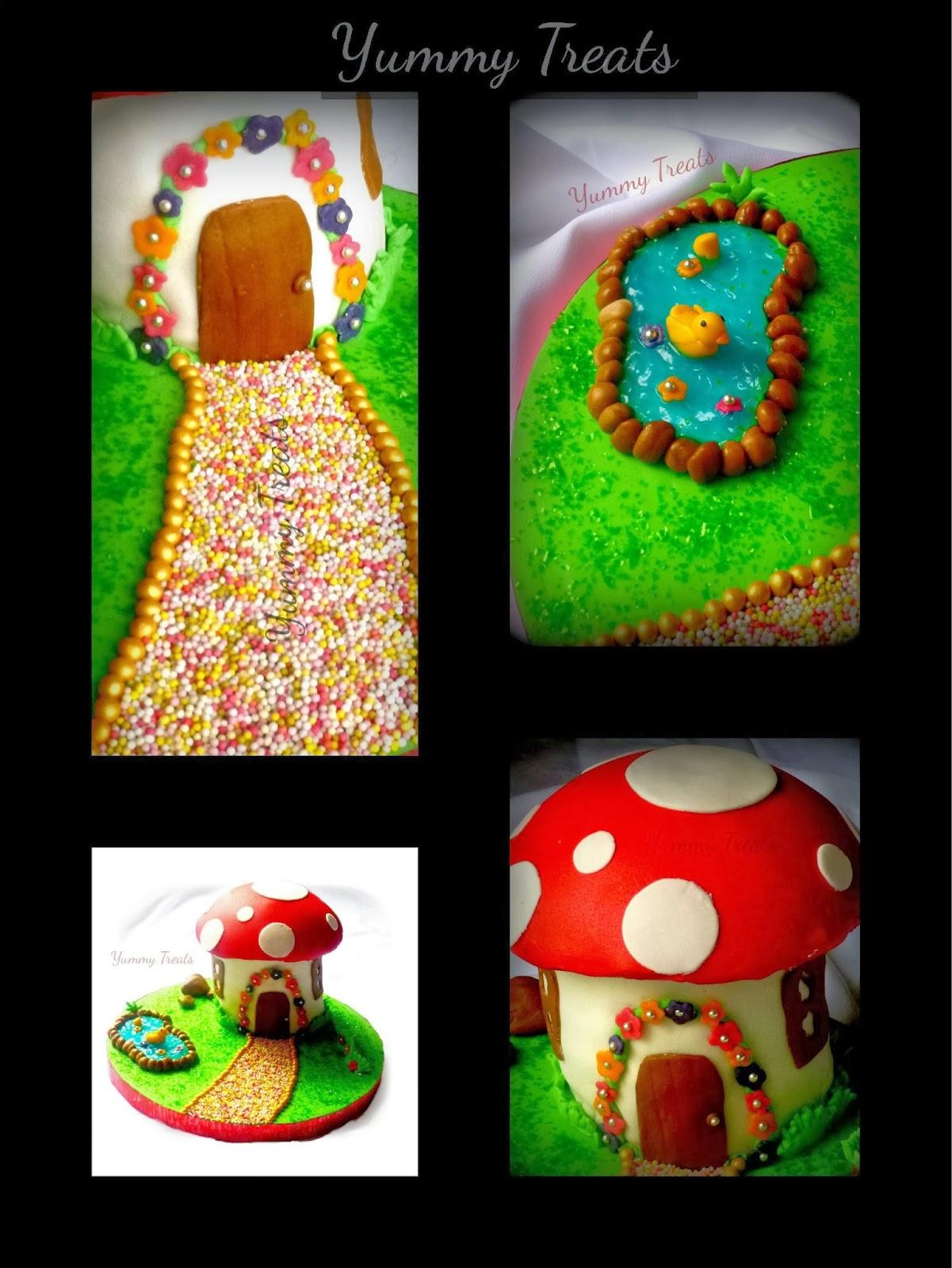 Yummy Treats Toadstool Mushroom Themed Birthday Cake