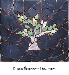 Dekor ścienny z drzewem