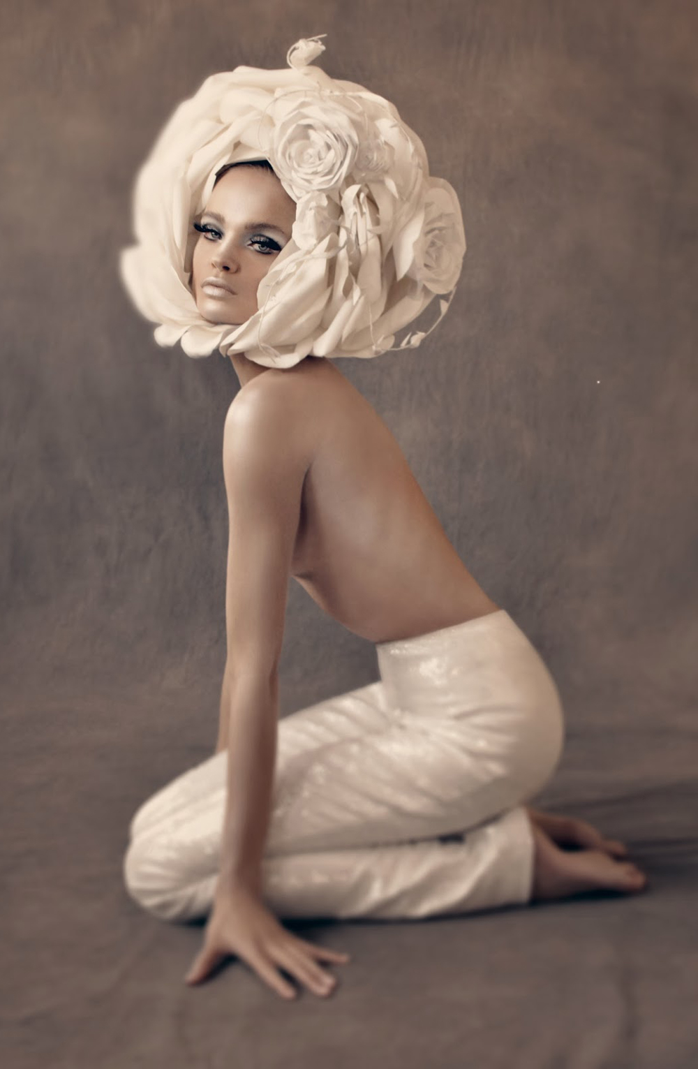 Natalia Vodianova as Veruschka photographed by Steven Meisel and styled by Grace Coddington for The great pretender / Vogue US May 2009 / via fashioned by love british fashion blog