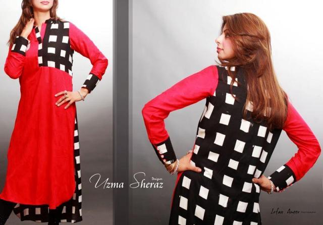 Uzma Sheraz winter party wear collection 2013