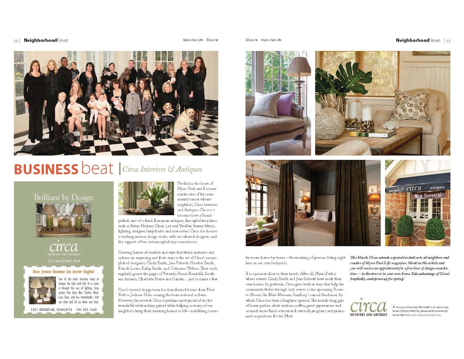Circa: Circa Featured in Myers Park Magazine