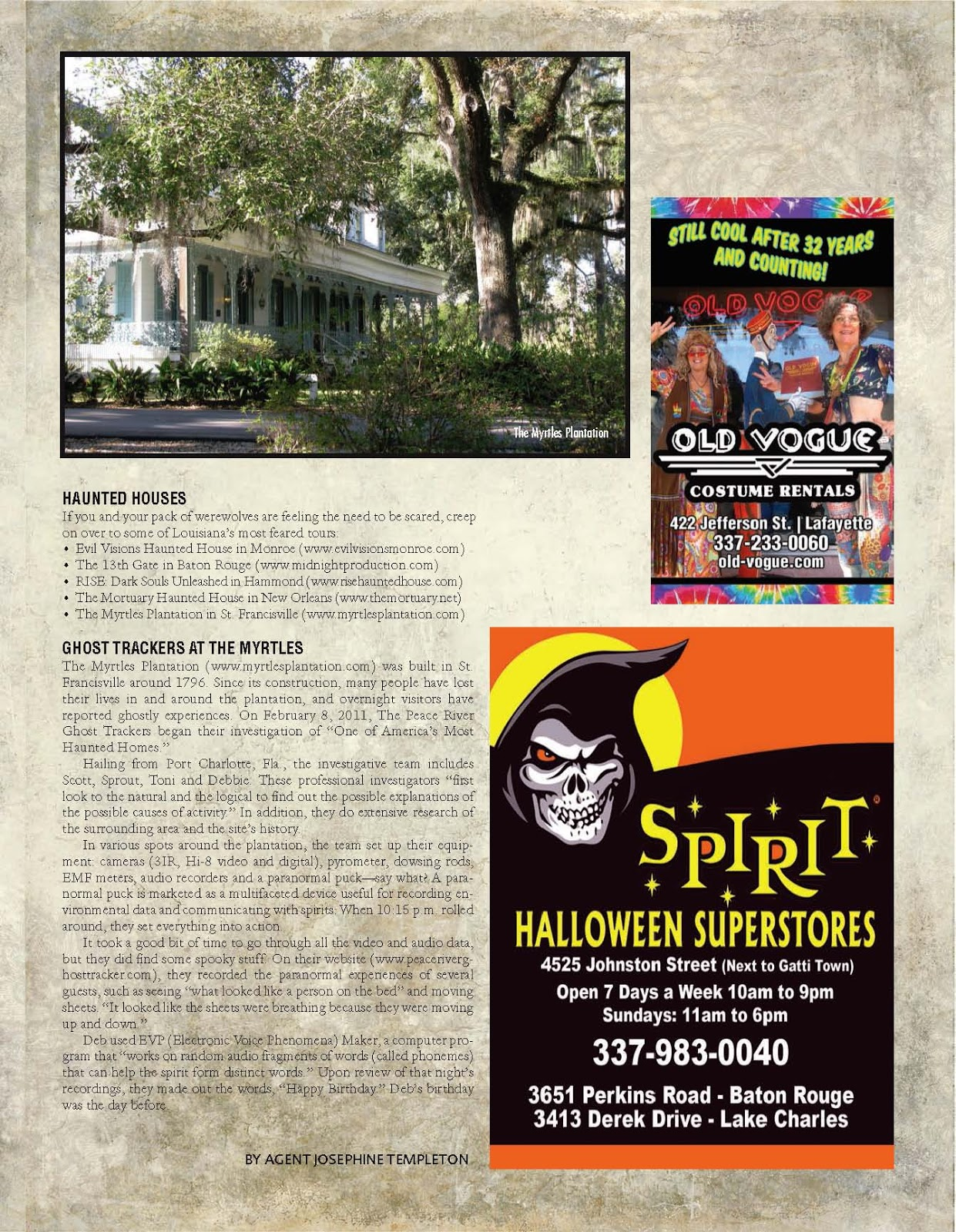 i am very pleased with the following article that appeared in 008 magazine 2013www008magazinecom - Article About Halloween