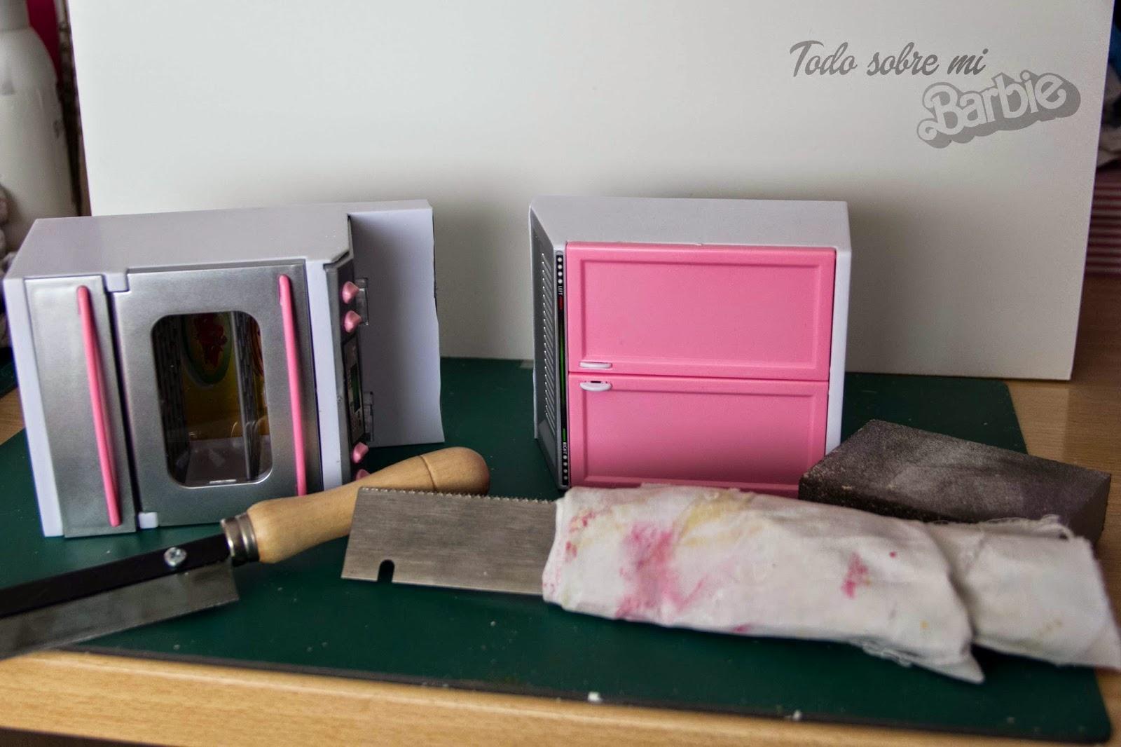 Todo sobre mi Barbie Cómo pintar muebles de plástico, Cocina