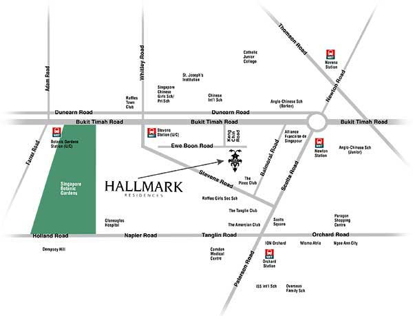 Hallmark Residences Location Map
