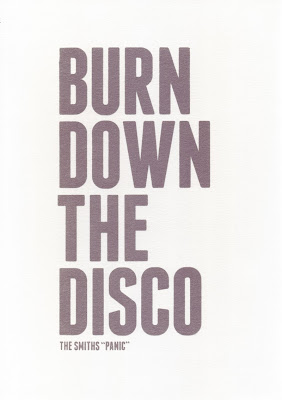 Burn Down the Disco Screen print scan