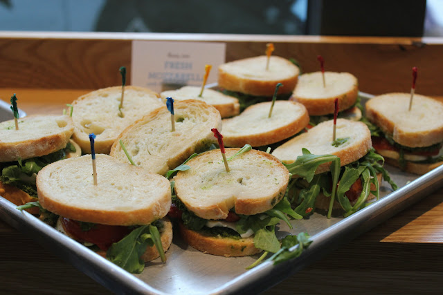 Mini sandwiches at Flour, Too cookbook launch party