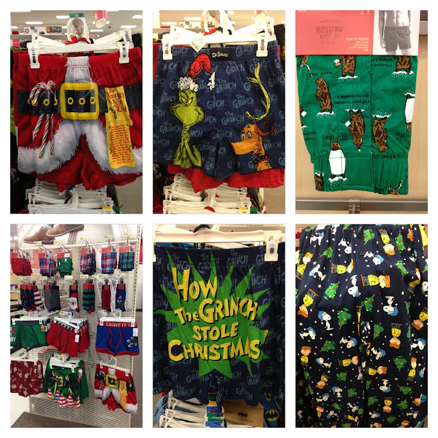 hilarious holiday boxers, Target