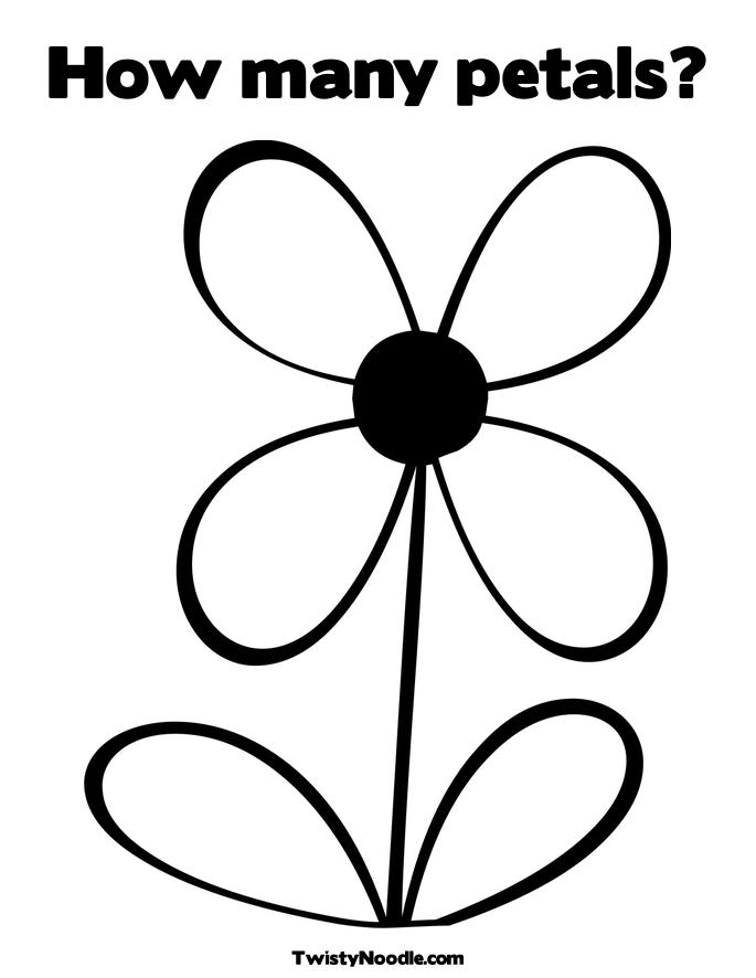 Free 12 Flower Petals Coloring Pages Petal Coloring Page