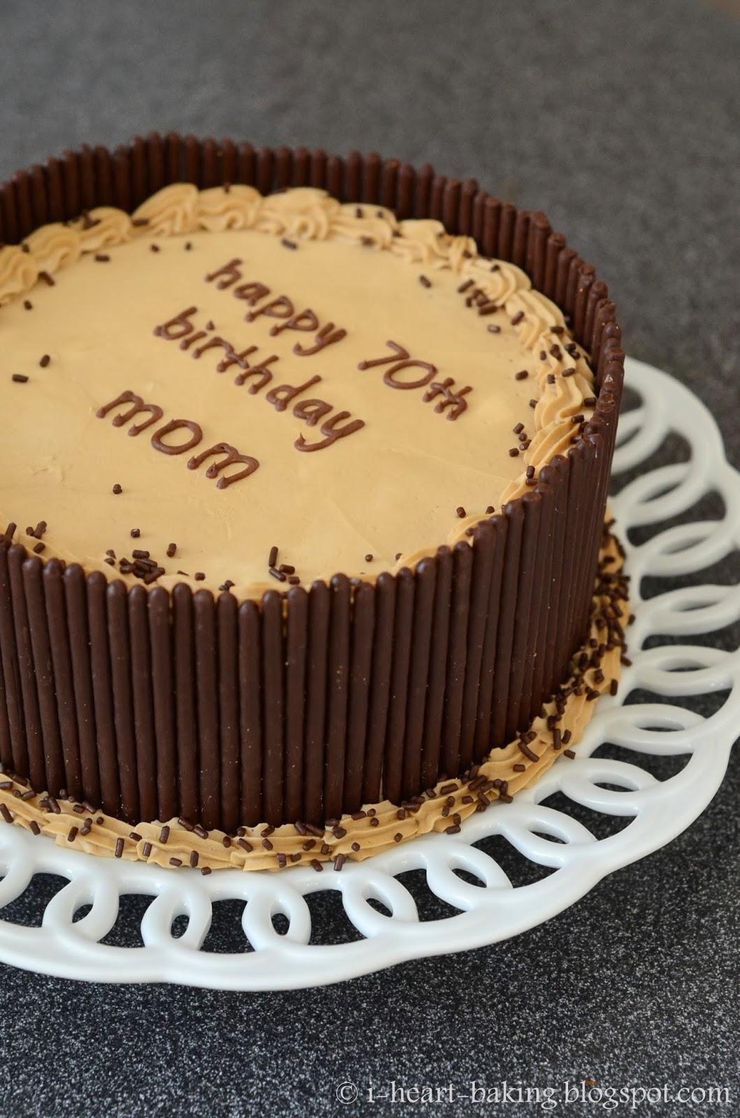 February Birthday Cakes I Heart Baking Mocha Pocky Layer Cake
