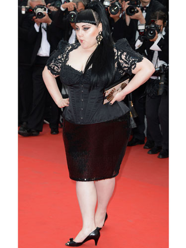 beth ditto cannes 2012 jean paul gaultier
