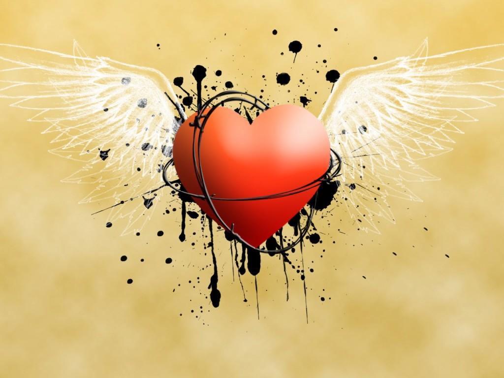 corazones con alas