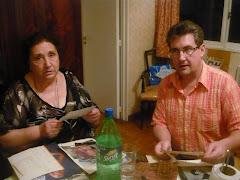 Margarita Biondi , y el padrino del blog Miguel Maseda