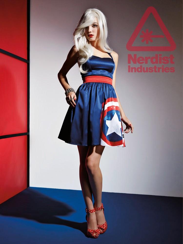 Marvel lança roupas femininas inspiradas nos Vingadores - Vestido Capitão América